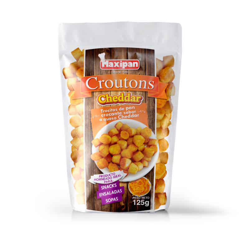 Croutons cheddar